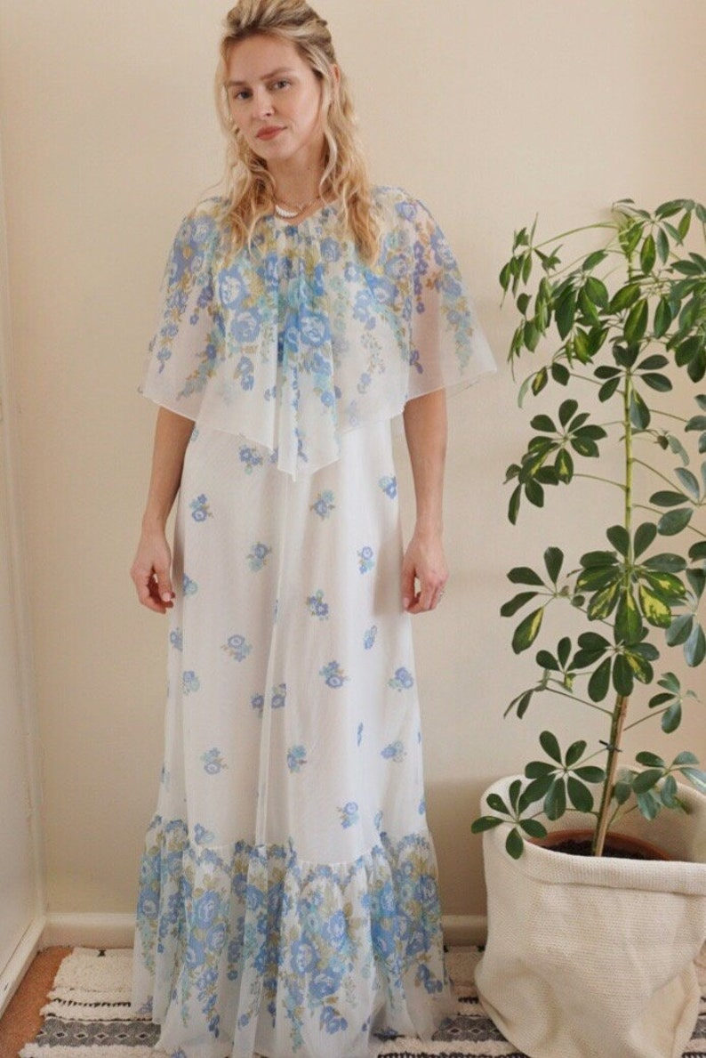 41aa10fe9c6 Vintage 1970s Prairie Dress
