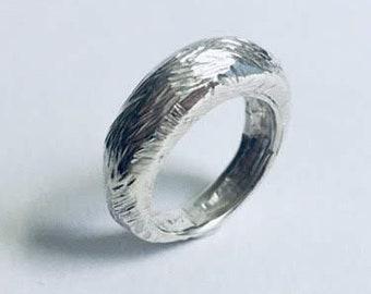 handmade sterling silver fox tail ring