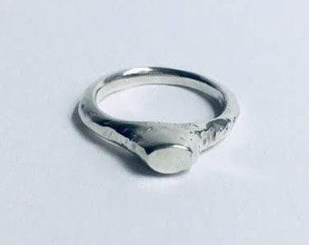 handmade silver signet ring