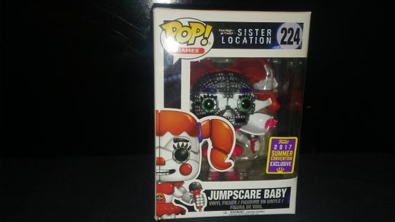 Jumpscare Baby FUNKO Pop + Diorama Display Fnaf - Five Nights At Freddys -  sister location -