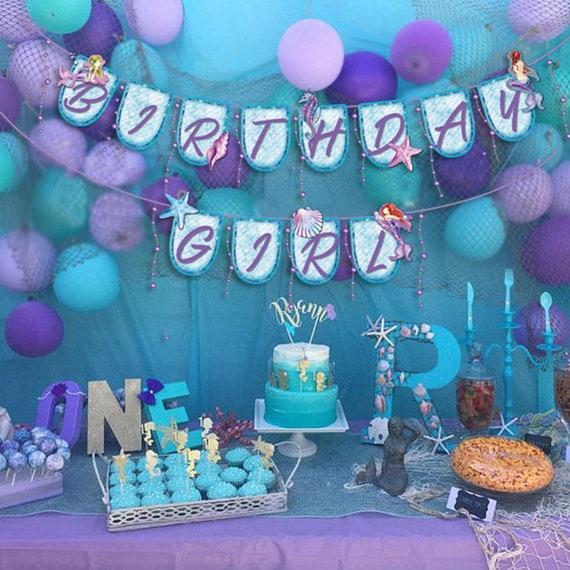 30 pcs Mermaid Hanging Swirls Mermaid Themed Party Supplies Marine Birthday Party Decorations