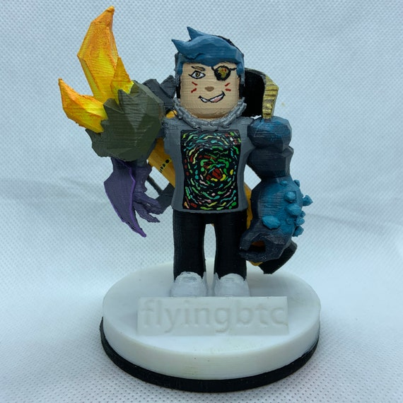 Personalized 3d Printed Roblox Character Etsy