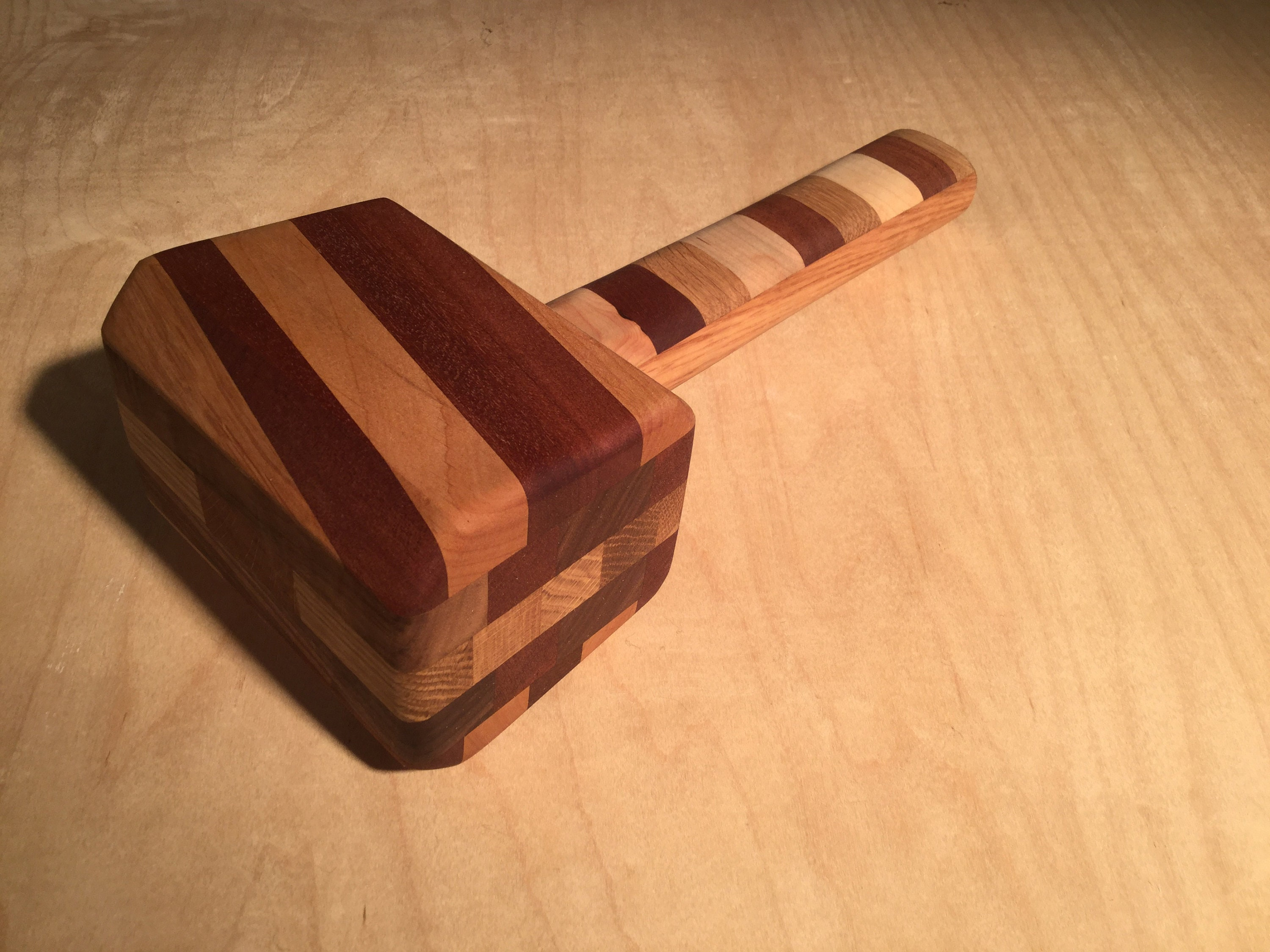 Wooden Mallet Carpentry Hand Tools Woodworking Gifts Hammer Handmade
