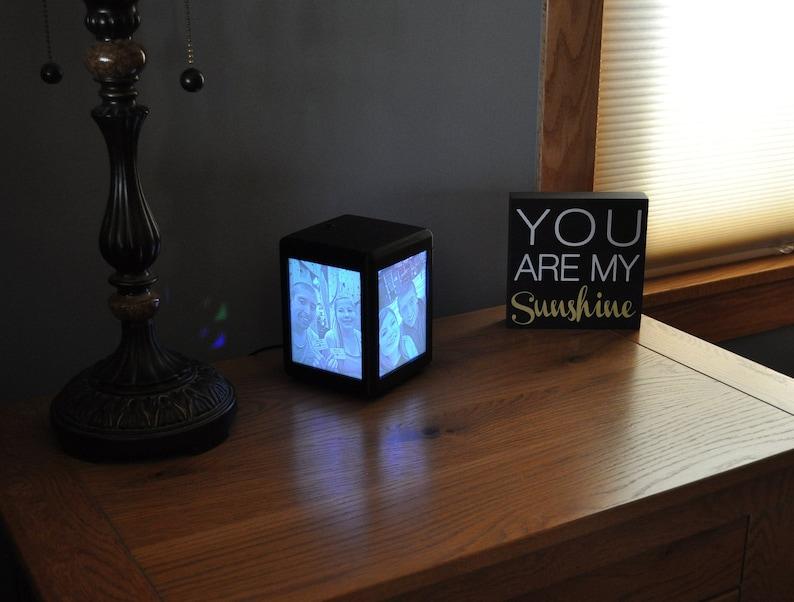 Lithophane Personalized Custom Multi-color LED Picture Box