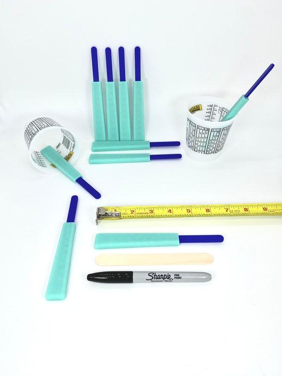 Reusable ResinEpoxy Silicone Mixing Sticks