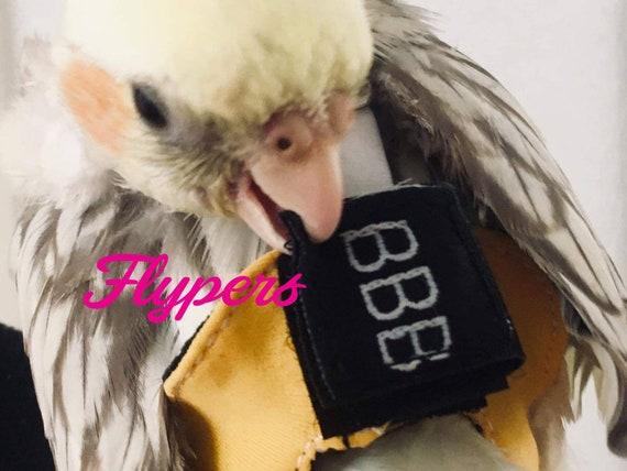 Size 1 Bird 35g – 60g Parakeet Diaper Flyper for Lovebird, Kakariki,,  Parrotlet, Dove, flight suit with leash ring, most comfortable