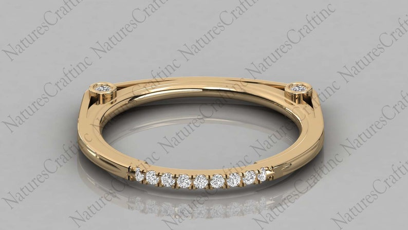 Gold Round Cut Natural Diamond wedding Band  Natural Diamond Wedding Ring  Minimalist Tiny Band  Women/'s Wedding Band Ring For Women