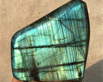 1.6LB Natural Labradorite Quartz Specimen,Polishing Quartz,Mineral Specimen,Crystal SpecimenHome Decoration, Reiki Healing,Crystal gifts