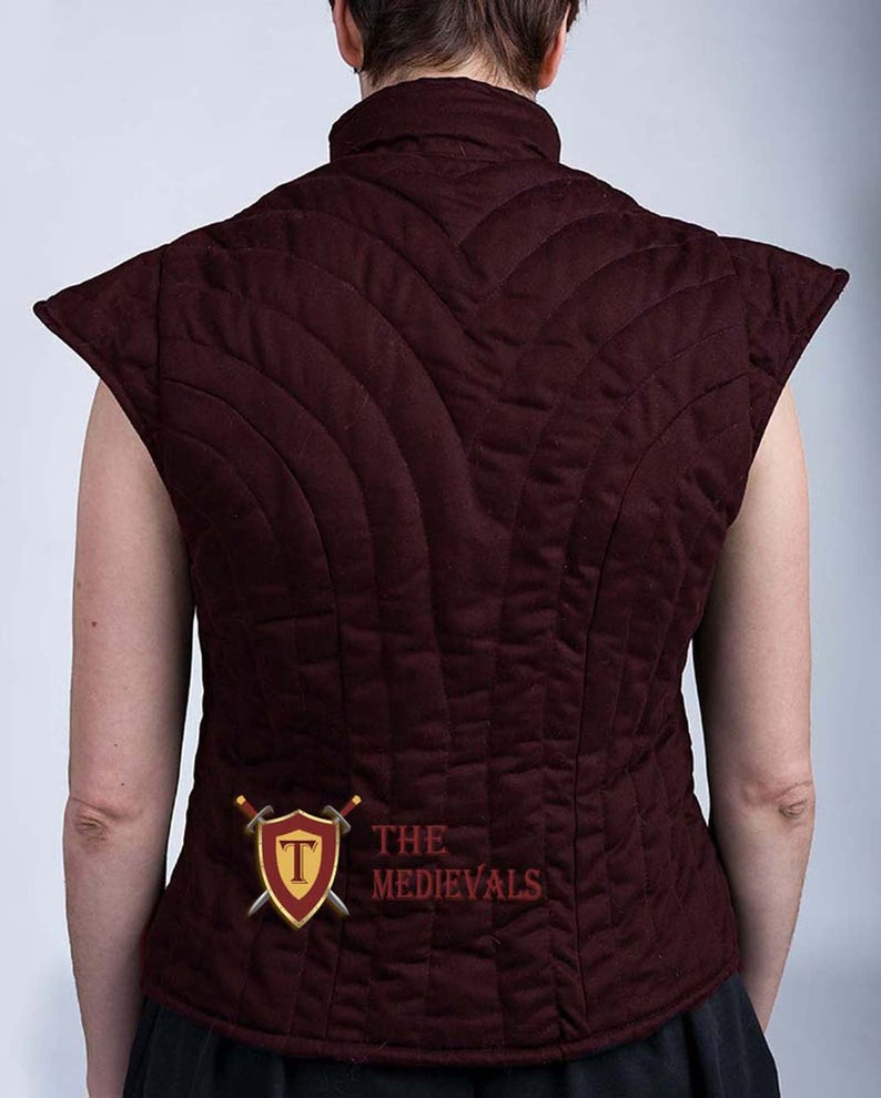 VINTAGE MEDIEVAL THEATER ROLE PLAY MAN GAMBESON JACKET ARMOR