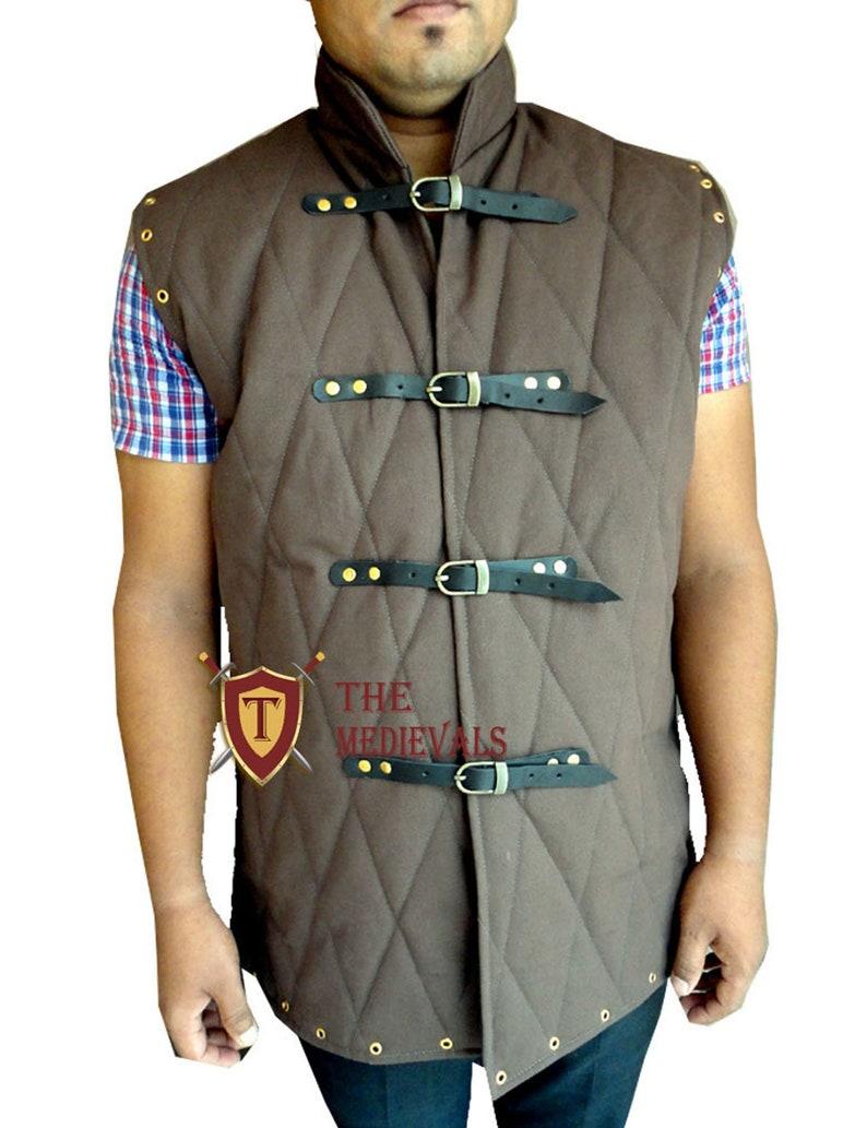 Medieval Gambeson vest  for sca larp hema knight armor costumes  costumes dress armor Aketon Jacket