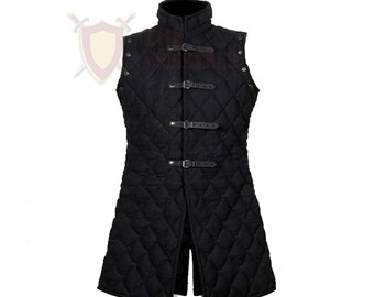 Medieval VEST Gambeson knight armor costumes dress cotton coat Jacket Under armor sca