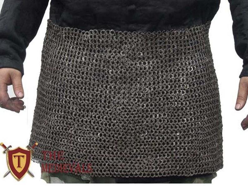 Medieval Chainmail Skirt armor 10mm for renaissance costume mild steel sca larp