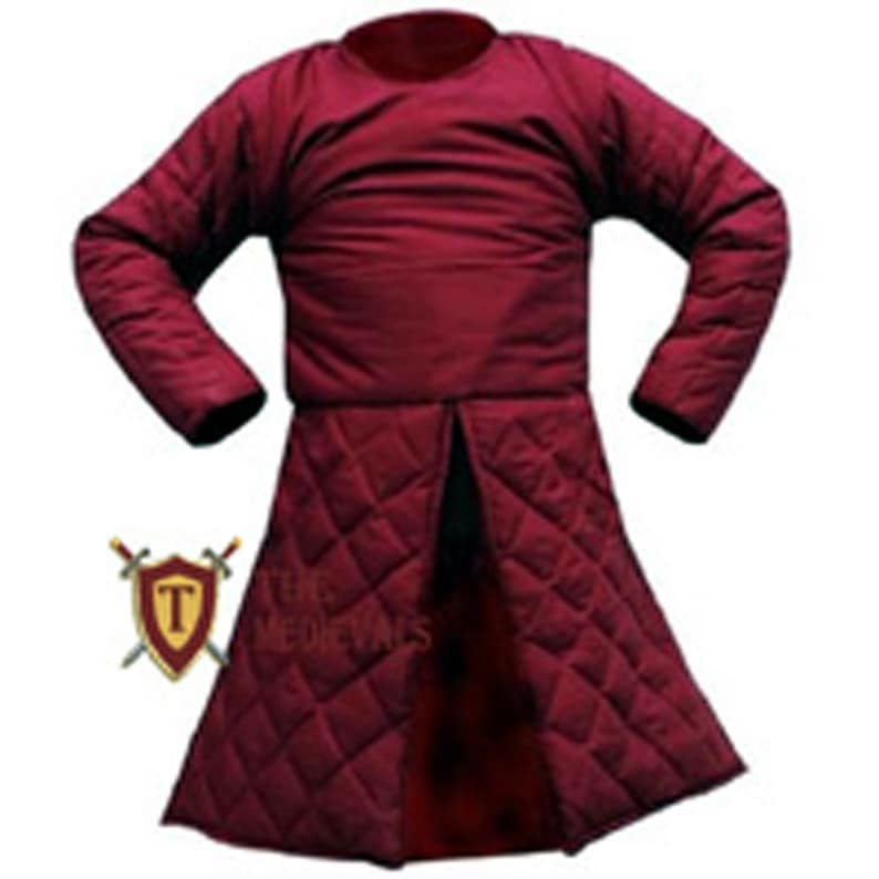 Medieval Gambeson knight armor Under armor costumes Jacket sca dress cotton coat
