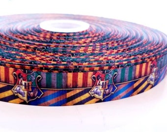 "7//8/"" HARRY POTTER 9 3//4 GROSGRAIN RIBBON BY THE YARD USA SELLER"
