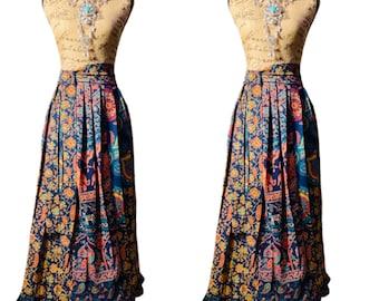 High Waist Maxi Skirt, Goddess Wraparound Skirt, Maxi Skirt, Bohemian Clothing,  High Waist Skirt, Mandala Fabric
