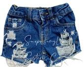 Distressed Toddler Denim Shorts Girls Toddler Fashion Heavy Distress