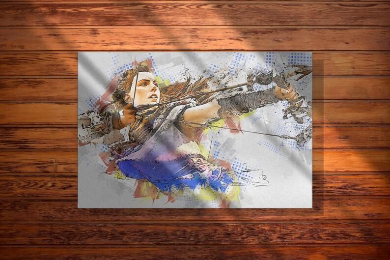 Zero Dawn Aloy Graffiti Art Canvas Print Horizon