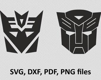Transformers SVG, Autobots SVG, Decepticons SVG, Autobot Logo, Decepticon Logo, Transformers, svg, cut file, Silhouette, Cricut