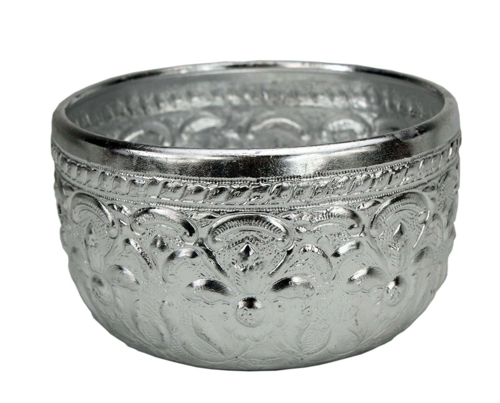 Traditional Thai Metal Drinking Cup, 10cm  Aluminium  Made in Thailand