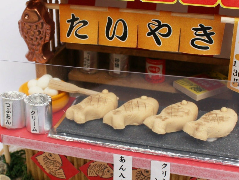Billy 8537 Quality detail Showa Taiyaki Stall Shop Japanese Model Building Kit