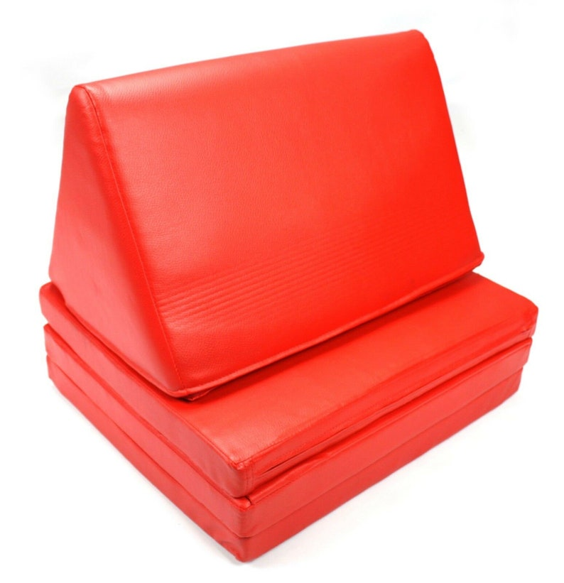 Thailand Waterproof Red Vinyl three fold Thai Cushion 52cm wide x 178cm long
