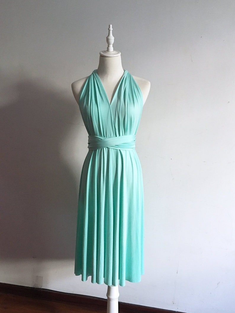 Short Infinity Bridesmaid Dress Convertible Bridesmaid Dress Multi-way Dress Maternity Dress Floor Length Evening Dress Plus Size