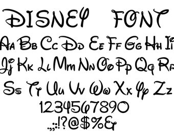 Disney Font Svg, Disney Mouse alphabet clipart, Disney Letters Svg, Mickey font