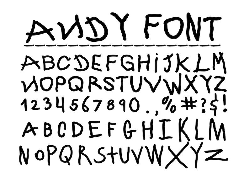 Disney Alphabet ANDY FONT SVG Disney Svg,Font Svg,Digital Download,Instant Download Toy Story Andy font Cut Files Toy Story Alphabet Svg