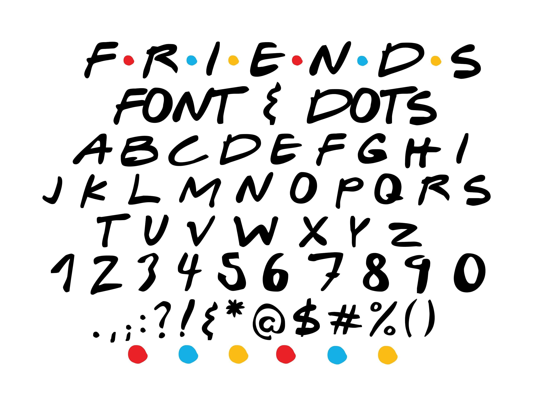 FRIENDS SVG Friends font svg Friends alphabet svg Friends ...