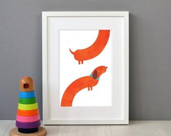 Dachshund / Sausage Dog Children's Print