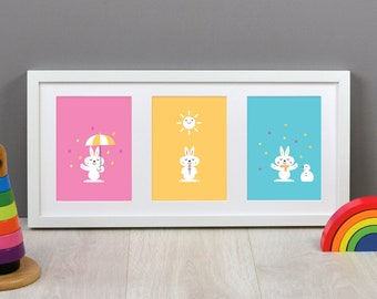 What's the Weather? Set of Three Children's Prints