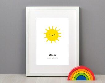 Personalised Children's Sun Print