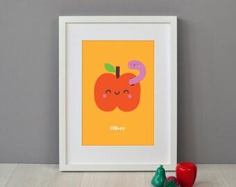 Personalised Children's Apple Print