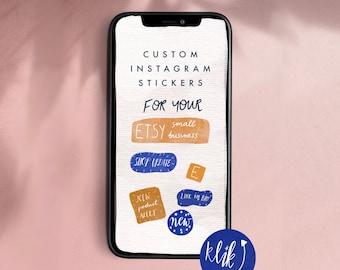 Small business branding instagram digital stickers for instagram stories, animator GIFs for instagram stories by Malgo Frej