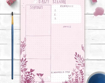 A5 Dotted daily planner notepad by Malgo Frej