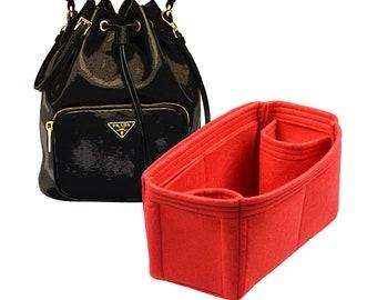 e418a10659 Organizer for Prada Mini Bucket Bag , Prada Mini Bucket Bag Insert, Felt Purse  Organizer, With Two Bottle Holders, Purse Insert