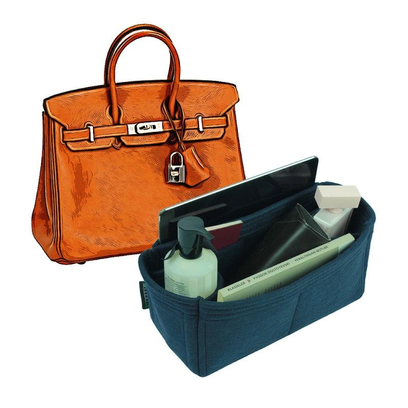 Veranstalter für Hermes Birkin Bags, Hermes Birkin Insert Organizer, Felt Purse Organizer, Bag Organizer, With Bottle Holders, Geldbörse Insert