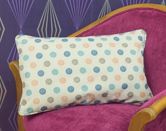"""Multicoloured Spotted Piped Cushion Cover / Pillow Cover 22"""" x 13"""""""