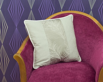 """Designer Porter & Stone Paneled Piped Cushion Cover / Pillow Cover 16"""" x 16"""""""