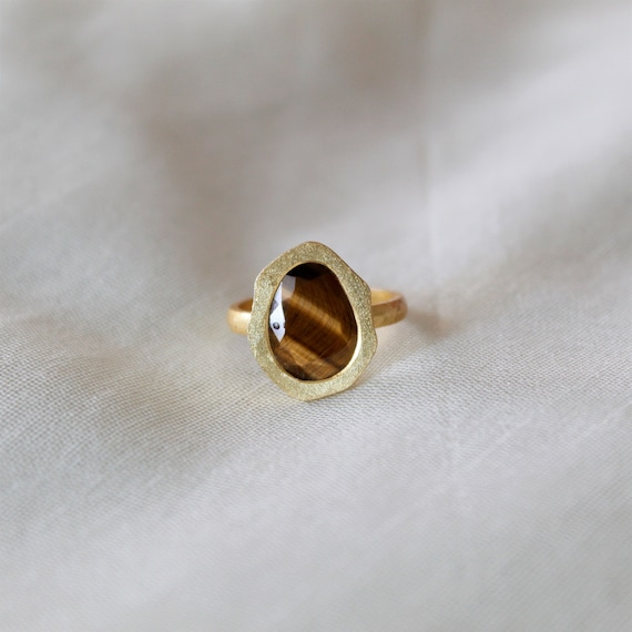 Details about  /Rose Gold Ring Natural Tiger Eye 925 Sterling Silver Handmade Gemstone Jewelry