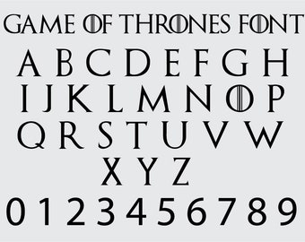 Game of thrones font | Etsy