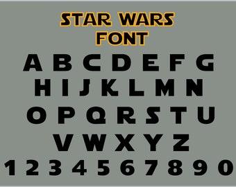 Star wars font svg | Etsy