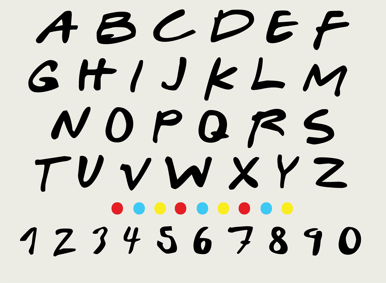 Friends Font SVG/PNG/Ai/DXF, Friends Alphabet, Friends Letters Clipart,  Cricut file