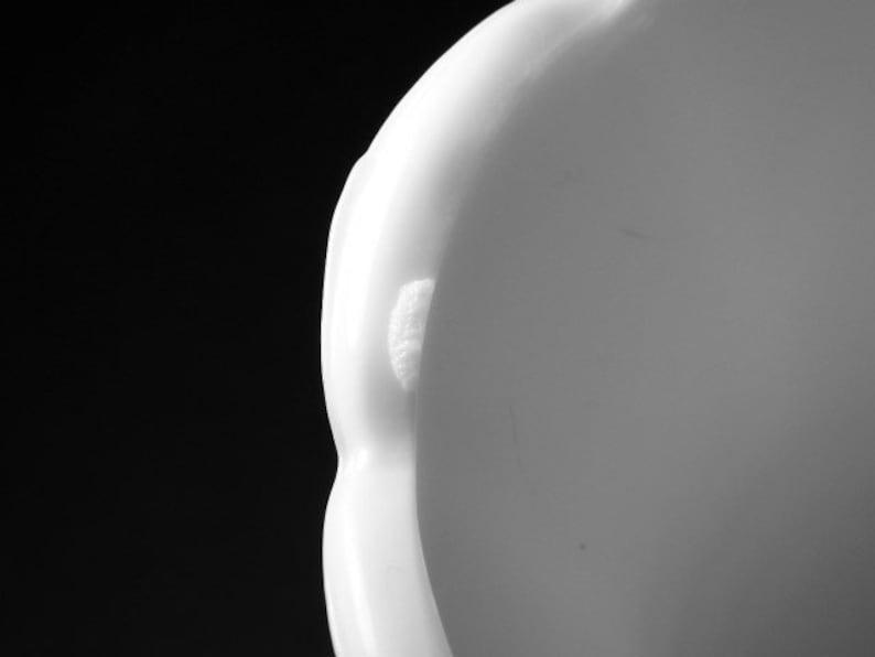 BRODY Co. Cleveland Milk Glass White Vase E.O Ohio USA M5200 Pedestal  Scalloped 9\u201d x 5\u201d