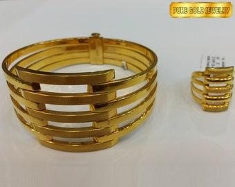 4d829605d1100 21K Gold Bracelet + Ring