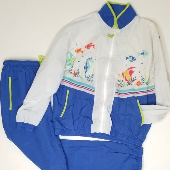 Vintage 90s Catalina Track Suit Bright Tropical Vi