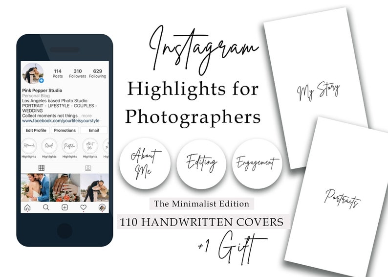 110 Instagram Story Highlight Covers for Photographers Minimal image 0