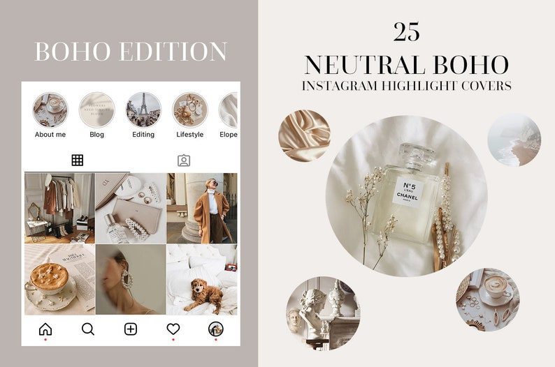 25 Boho Instagram Story Highlight Covers  Texture Stories image 0