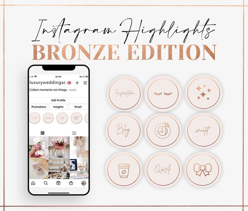 Instagram Highlight Icons  Bronze Edition Highlight Covers  image 0