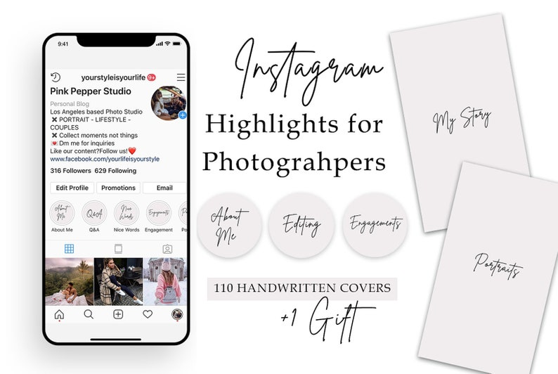 110 Instagram Story Highlight Covers for Photographers  image 0